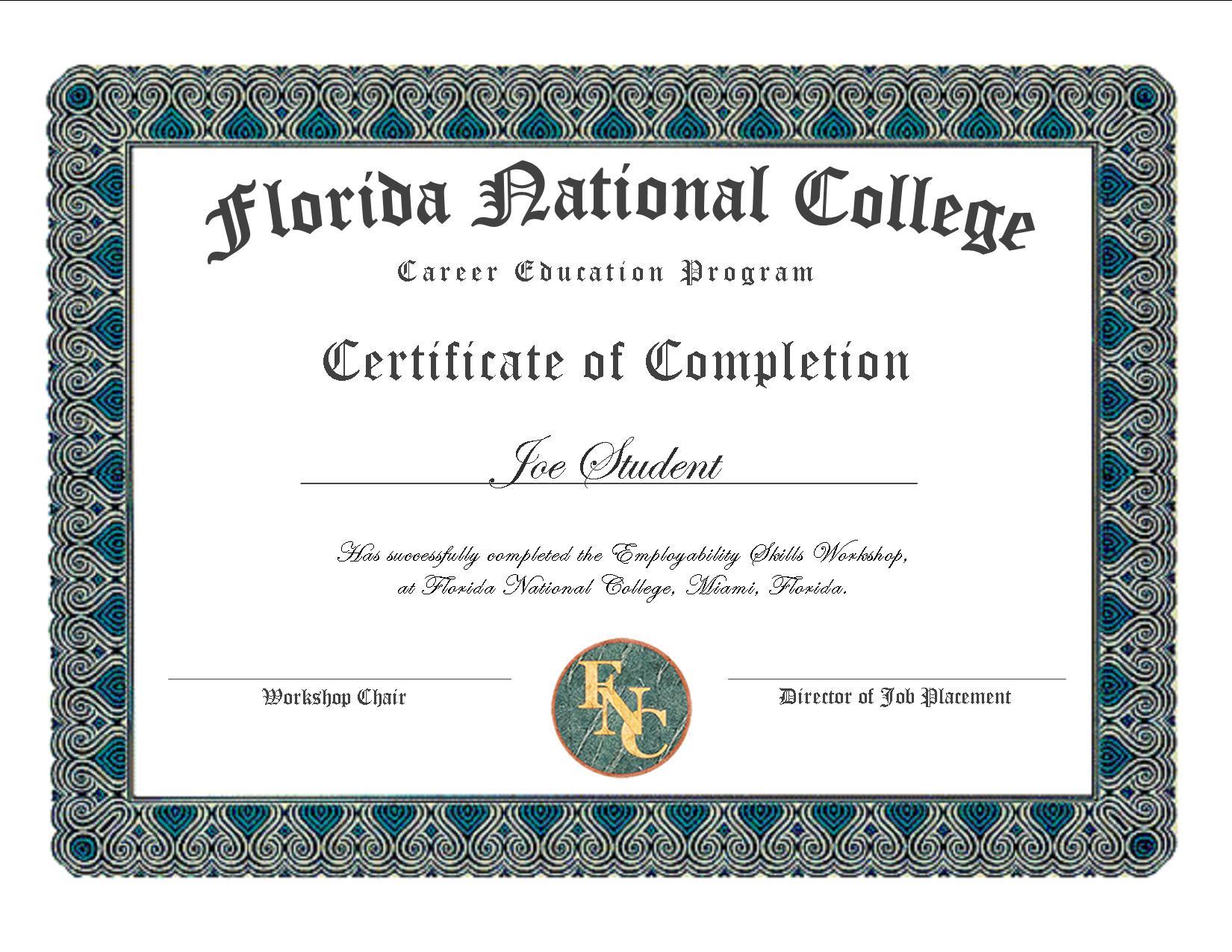 Career Education Program Certification
