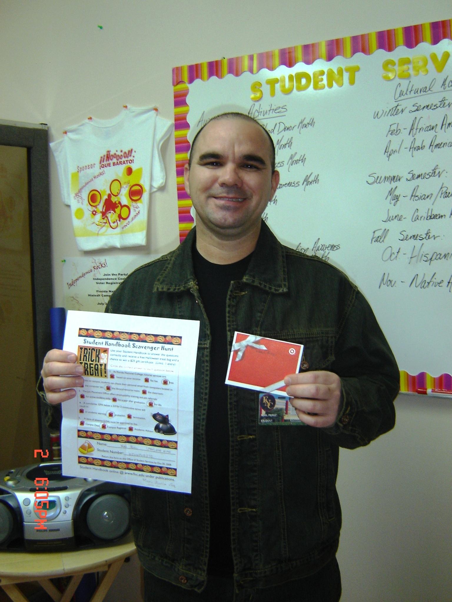 Noel Perez: South Campus Winner!