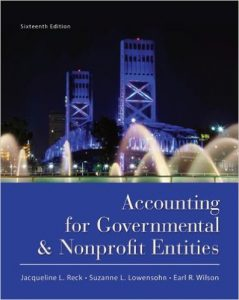 Accounting for Governmental & Nonprofit Entities Textbook