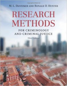 Research Methods for Criminology and Criminal Justice Textbook