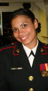 female marine in uniform