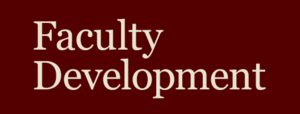 Faculty Development Information