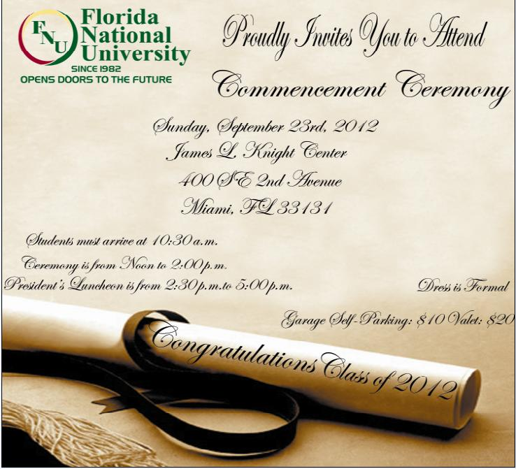 Fnus commencement ceremony will be held on sunday september 23 2012 fnu class of 2012 commencement ceremony solutioingenieria Gallery