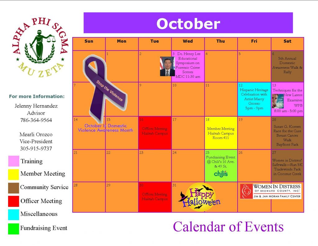 Calendar Monthly Events : Monthly calendar florida national university