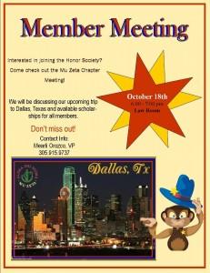 Mu Zeta Member Meeting