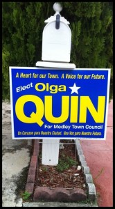 Ms. Olga Garcia-Quin, FNU Graduate sign