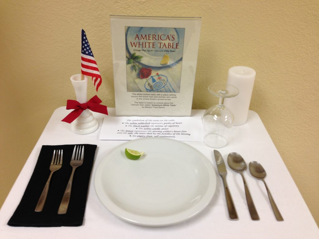 America's White Table close up table setting