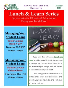 Lunch and Learn: Manage your Student Loans