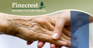 Pinecrest Rehabilitation Center Logo Hands Holding