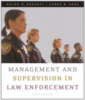 Management and Supervision in Law Enforcement Book Cover
