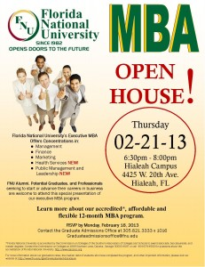 MBA Open Hose - Florida National University