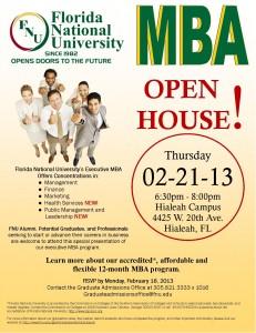 MBA Open Hose - Florida National University