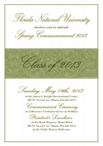 Commencement Ceremony Invitation