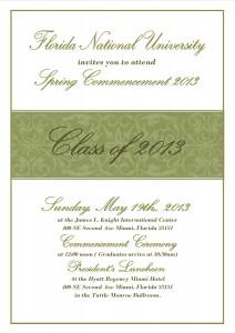 Commencement Ceremony Invitation