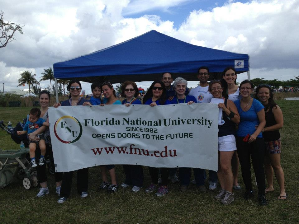 "Florida National University Students and Faculty attended the ""Walk Now for Autism Speaks"" walk"