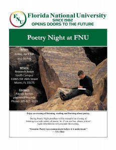 Poetry Night at Florida National University's South Campus
