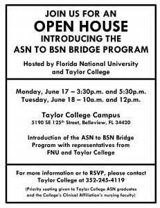 FNU & Taylor College Open House