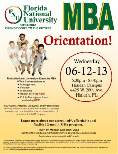 MBA Orientation - Florida National University