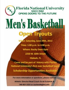 Men's Basketball Tryouts Flyer