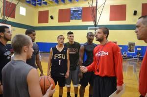 Coach Schmidt addresses the players