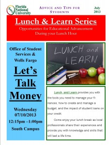 Flyer for lunch & learn