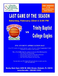 Last game of the season flyer