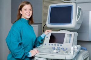 ultrasound technician student with equipment portrait at FNU