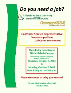 Flyer for CareersUSA