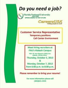 Flyer for CareersUSA
