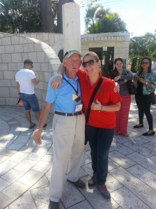 Prof. Elosegui with Holocaust Survivor