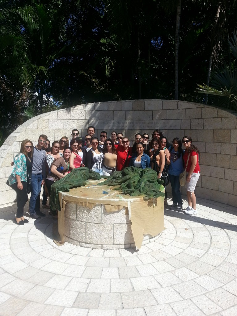 FNU students at the Holocaust Memorial