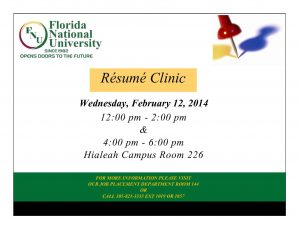 flyer for resume writing clinic