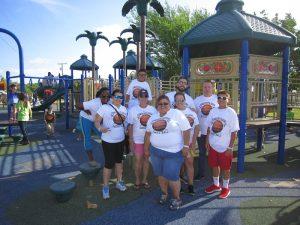 cystic fibrosis walk FNU playground