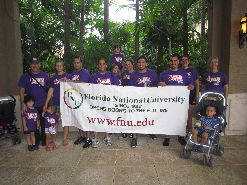 Florida National University at the Hemophilia Walk