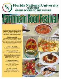 Caribbean Food Festival flyer