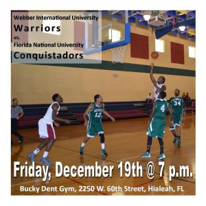 Webber International University Warriors vs. FNU Conquistadors