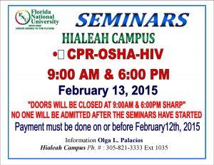 Allied Health Seminars Winter A 2015