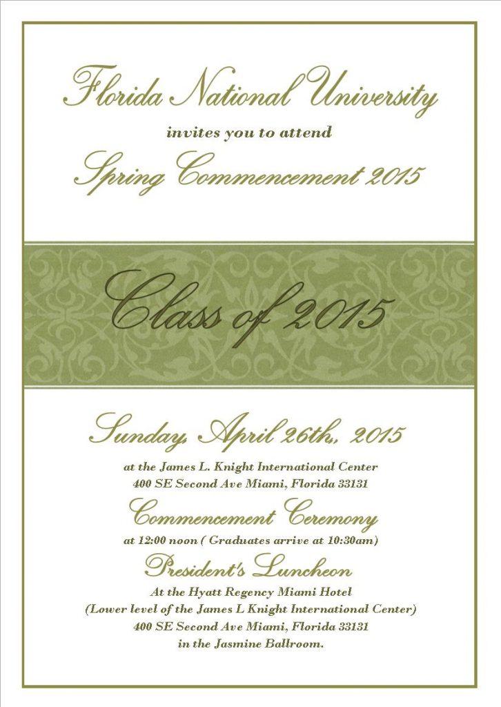 FNU Graduation Invitation