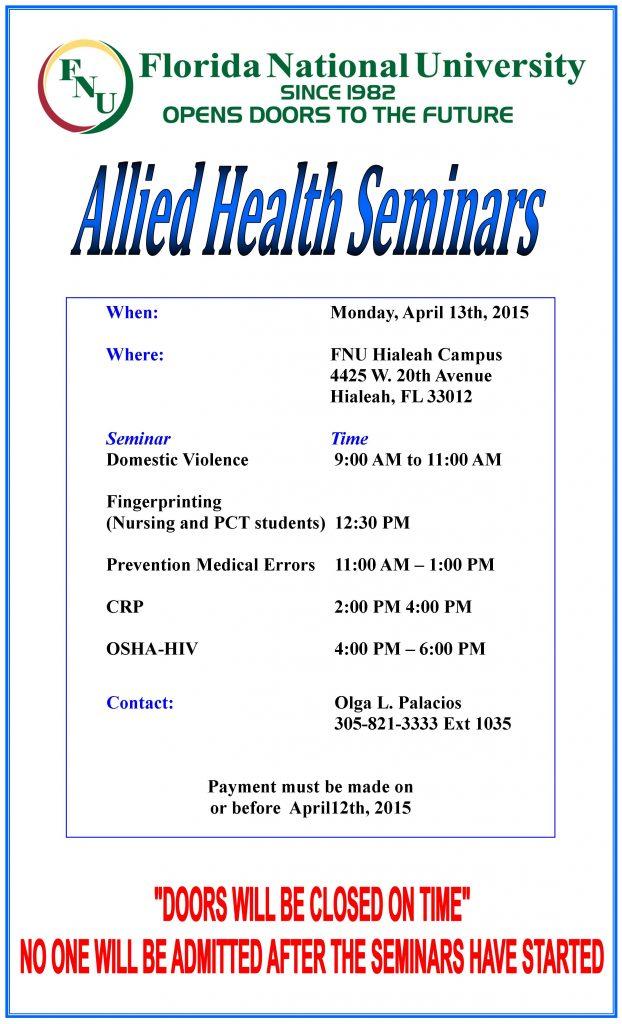 Allied Health Seminars Winter B 2015_re