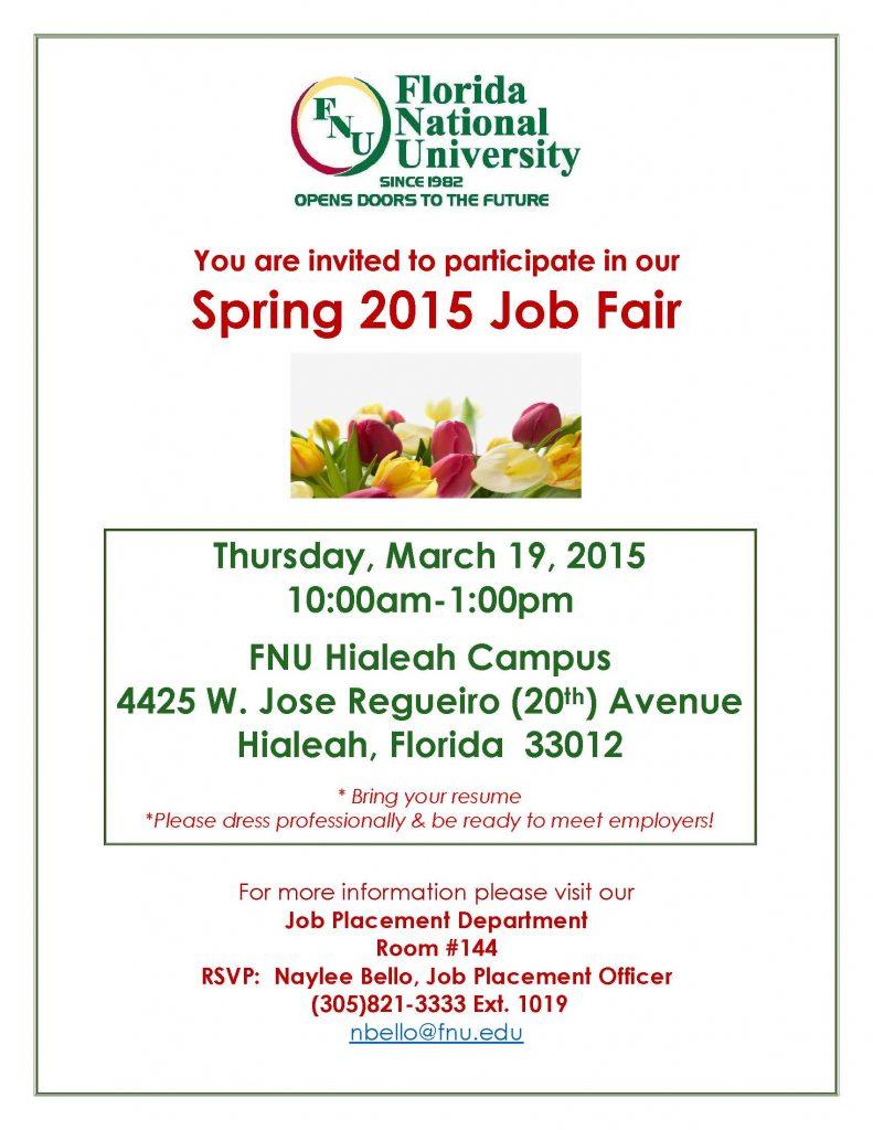 FNU Spring Job Fair 2015