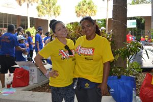 Left to right: FNU Students Ms. Milena Serrano and Ms.  Rossana Feliz