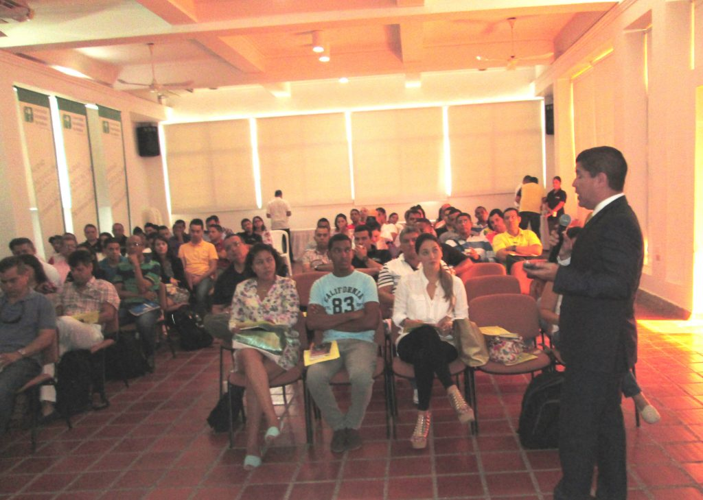 Dr. Ernesto Gonzalez, FNU Business Department Head speaking to UTB students
