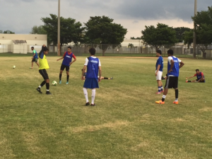 Men's soccer training