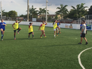 Women's soccer training