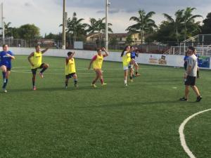 Women's soccer training