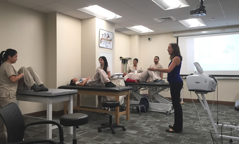 Dr Kelly Krenkel instructing students
