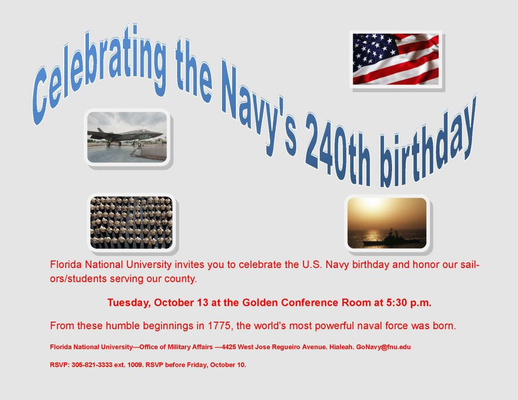 2015 USN 240th Birthday Flyer