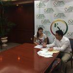 Raquel conversing with FNU rep