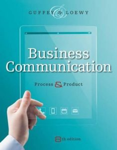 BUSINESS COMMUNICATION PROCESS & PRODUCT COVER PAGE PICTURE