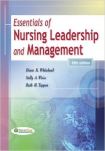 Essentials of Nursing Leadership and Management Textbook